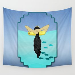 Floating Your Cares Away Wall Tapestry