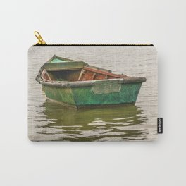 Lonely Old Fishing Boat at Santa Lucia River in Montevideo, Uruguay Carry-All Pouch