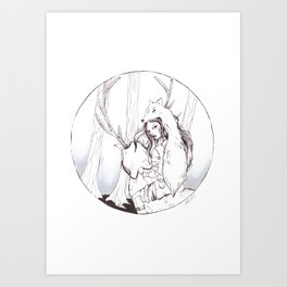 Huntress Art Print
