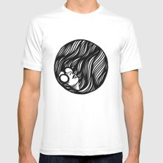 Circle Lady 2 MEDIUM Mens Fitted Tee White