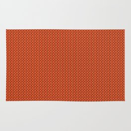 Knitted spring colors - Pantone Flame Rug