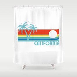 '80s Retro Vintage california Shower Curtain