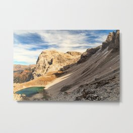 Autumn trekking in the alpine Pusteria valley Metal Print