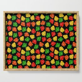 A Rainbow of Bell Peppers Serving Tray