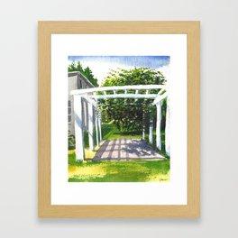 Briars Summer Veranda Framed Art Print