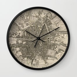 A plan of the city of Dublin - 1797 Wall Clock