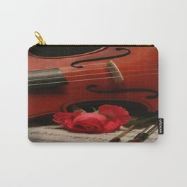 The Violin and Rose  Carry-All Pouch