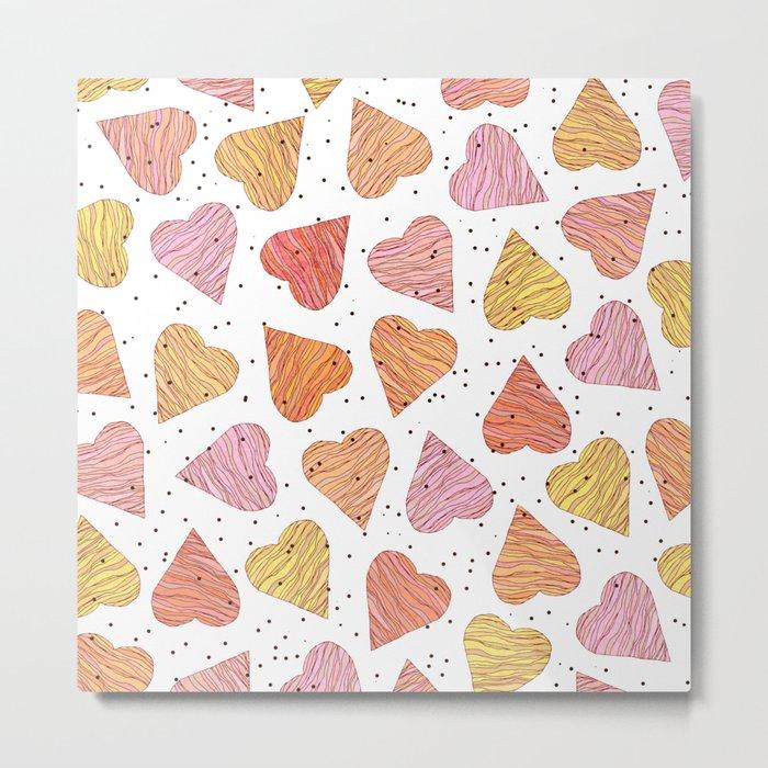 Love, hearts, cookies! Metal Print