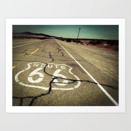 Route 66 #1 Art Print
