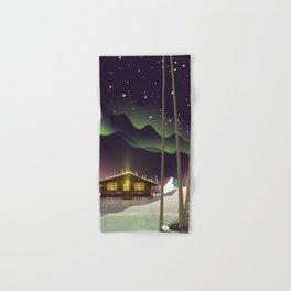 Log Cabin in the Snow Hand & Bath Towel
