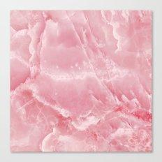 Pink onyx marble Canvas Print