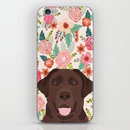 Chocolate Lab floral dog head cute labrador retriever must have pure breed dog gifts iPhone Skin