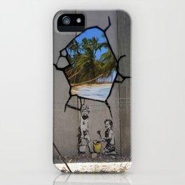 Bansky Wall Graffiti iPhone Case
