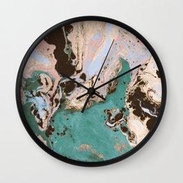 Modern marbled paper Wall Clock