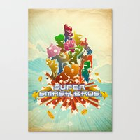 smash bros Canvas Prints featuring Smash! by Jesse Musto