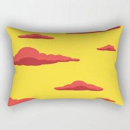 Cloudscape - Yellow Rectangular Pillow