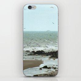 Calais beach, French. iPhone Skin