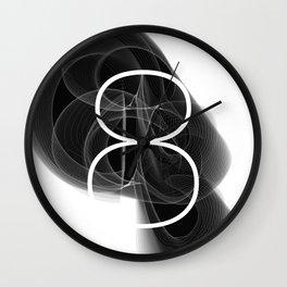 Number 8. Dark Math Wall Clock