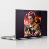 castiel Laptop & iPad Skins featuring Castiel by ururuty