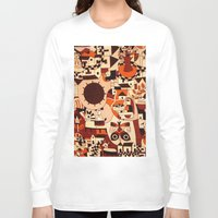 mexican Long Sleeve T-shirts featuring Mexican drawings by lennyfdzz