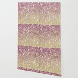 Gold Pink Sparkle Ombre Wallpaper