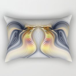Fractal Waves Rectangular Pillow