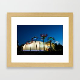Seattle Glass Flowers Space Needle Framed Art Print