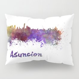 Asuncion skyline in watercolor Pillow Sham