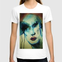 makeup T-shirts featuring Rock Star Makeup Malfunction by Michelle Silsbee