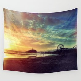 Santa Monica Sunset Wall Tapestry