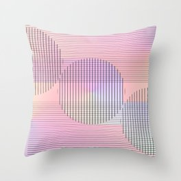Hard lines, soft colors ... Throw Pillow