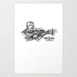 Rough Major Sketch Art Print