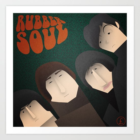 Rubber Soul Art Print