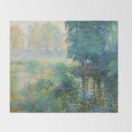 Václav Radimský (1867-1946) Bath Modern Impressionist Oil Painting Colorful Bright Landscapes Throw Blanket
