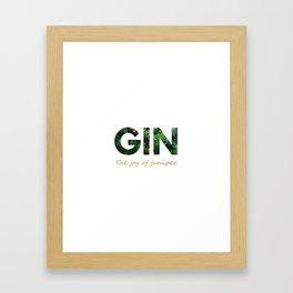 Gin - The joy of juniper Framed Art Print
