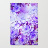 shabby chic Canvas Prints featuring Shabby Chic Purple by Jacqueline Maldonado