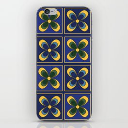 French Limoges Enamel Flowers Two iPhone Skin