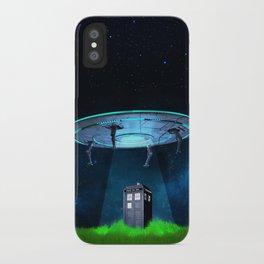 Tardis UFO iPhone Case