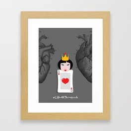 Off with their heads Framed Art Print