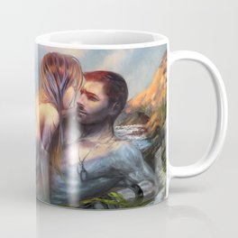 Take my breath away - Mermaid in love with soldier on the beach Coffee Mug