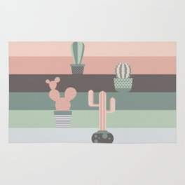 cacti colors Rug