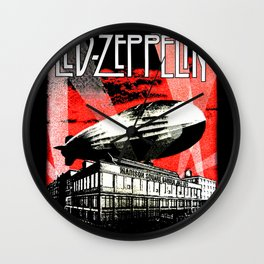 Red Zeppelin Wall Clock