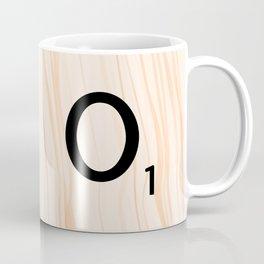 Scrabble Letter O - Large Scrabble Tiles Coffee Mug