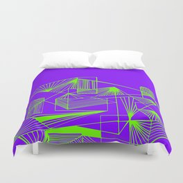Polygon collection - green Duvet Cover