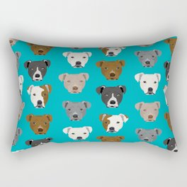 Pitbull faces dog art dog pattern pitbulls cute gifts for rescue dog owners Rectangular Pillow