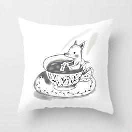 Tea cup Throw Pillow