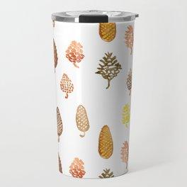 watercolor paintings of pine cones Travel Mug