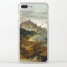 Joos De Momper (II) - River Landscape With Boar Hunt Clear iPhone Case