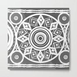 Dark Gray Egg Metal Print
