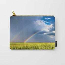 Daydream - Double Rainbow Above Kansas Wheat Field Carry-All Pouch
